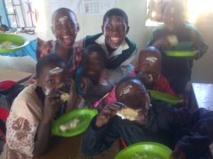 "Cake time! They got creative with the icing...""Ms. Ndlovu, we same like you!"""